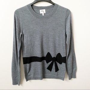Milly Trompe I'Oeil Bow Sweater